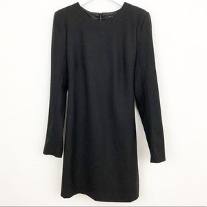 Theory wool padded shoulder dress